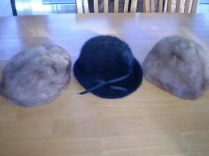 BLACK FUR HAT Windsor Region Ontario image 1
