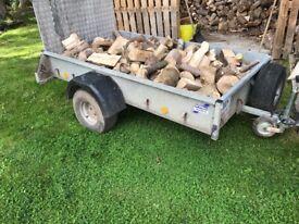 Trailer loads of hardwood logs for sale