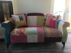 Kitty Patch Sofa & Wing Chair