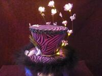 Light Up Hand Made Mini Hat/Fascinator!!
