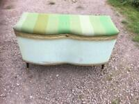 Vintage ottoman blanket chest seat