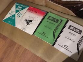 Piano tuition books