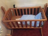 Two swinging cribs and the bumper bed