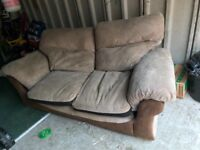 Free Two seater sofa and single chair