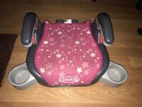 Graco booster seat with cup holder