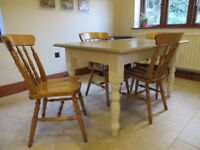 dining kitchen farmhouse country style wooden table and chairs