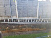 3 storey ladders. Aluminium. £80