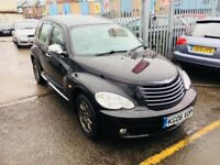CHRYSLER PT CRUISER 2.4 LIMITED EDITIONS MANUAL PETROL 5 DOORS MPV BLACK 2006, 95000 MILES
