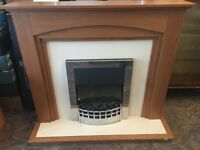 Electric fire with full surround in PERFECT WORKING CONDITION