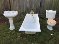 Bath suite, toilet, sink pedestal