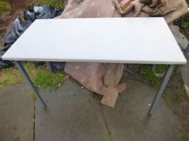 Strong Metal Framed Table Ideal Carboot market Trader Garage Shed etc