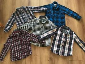 Age 3-4 Bundle of 5 checked long sleeved shirts