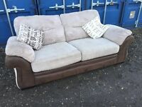 Bargain Italian Suede / Fabric Sofas, V.G.C. Condition, Free Delivery In Norwich,