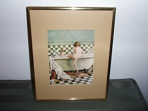 FRAMED PICTURE - Child getting into the tub London Ontario image 1