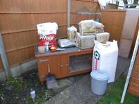 Large Rabbit hutch,folding run and accessories