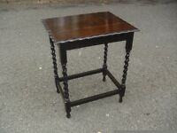 Lovely 1920's Solid Oak Barley Twist Side Hall Table