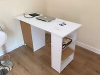 Computer desk white with drawes