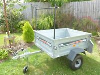 Erde 122 galvanised steel tipping trailer