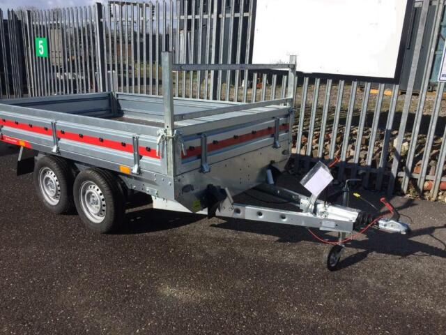Brand New Braked Twin Axle Trailer with drop down removable sides 1500kg  MAM 1092kg load capacity | in Exmouth, Devon | Gumtree