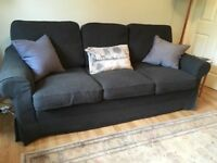 Ikea Ektorp 3 seater Sofa Bed in grey 'linen'