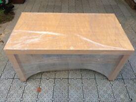 Timber Veneer Table Unit