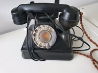 Vintage Bakerlite Telephone with internal Bell Box