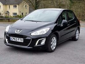2013 62 ~Peugeot 308 1.6 HDi Active, One Local Owner, New MOT & service, Aircon, CD Player, Alloys