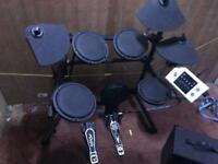 Roctronic 502j Electric Electronic Digital Drum Kit Set with stool and sticks