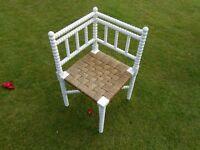 """Bobbin"" Corner Chair"