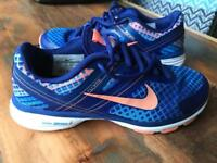 Nike Flywire Blue and Orange Trainers UK 4