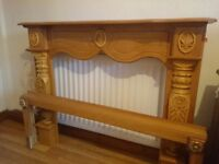 Carved wooden fire surround mantlepiece, excellent condition