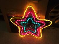Christmas Lights Flashing Star