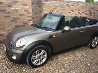 2012 MINI diesel convertible with chilli, media pack and SAT NAV. 45000 miles.