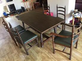 Barker and Stonehouse Dinning table and chairs