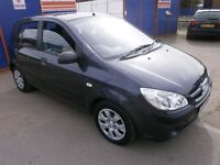 2007 HYUNDAI GETZ 1.4 5DOOR,HATCHBACK, SERVICE HISTORY, CLEAN CAR, DRIVES VERY NICE, HPI CLEAR