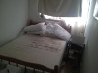 Wooden Double Bed Base & Mattress