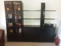 Black Ash wall display unit