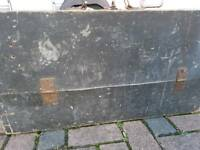 Very old wooden carpenters tool chest