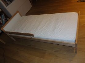 Children's Bed with the guard rail - very good condition