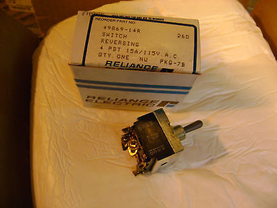 Reliance Electric Reversing Toggle Switch 49869-14r