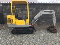 Pel job/Volvo 1.5t mini digger/excavator 3buckets no vat