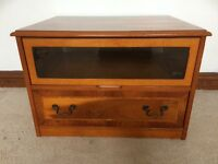 Tv cabinet- wood 'yew' effect £40
