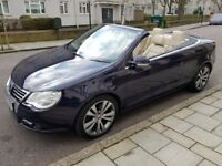 VOLKSWAGEN EOS ( 2.0 TFSI 2008 )LOW MILLAGE (35,000) FULL SPEC, FULL CREAM LEATHER