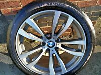 "BMW X5, X6, F15, F16 E70 and E71 Genuine M Sport 20"" Alloy Wheels and Tyres"