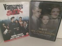 twilight an obsession & vampires suck DVDs