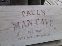 Wood carving, signs and letters