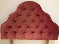 Dusty pink dralon single headboard in excellent condition