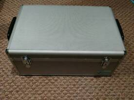 500 Disc Aluminium CD/DVD Silver DJ Style Carry Case
