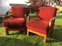 Pair Of Retro Armchairs - Deco Armchairs - Pair Of Vintage Armchairs - Bargain