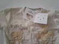 Baby grow 0-3mhts old in beige